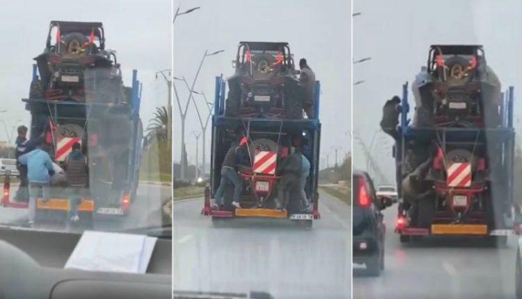إعتقال حراكة بالناظور استولوا على شاحنة أجنبية وسط الشارع العام